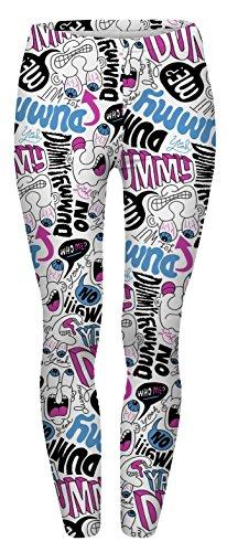 Fringoo - Leggings sportivi -  donna Dummy Doodle
