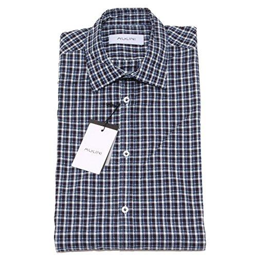 8177P camicia quadretti manica lunga AGLINI camicie uomo shirt men [40]