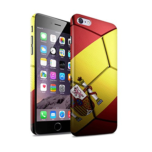 STUFF4 Glanz Snap-On Hülle / Case für Apple iPhone 5/5S / Portugal Muster / Fußball Nationen Kollektion Spanien/Spanische