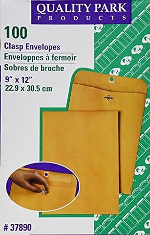 Clasp Envelope, 9 x 12, 28lb, Light Brown,
