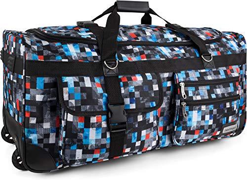 Leichte und Robuste Sport und Reisetasche Rollen Farbe Choosy Check / 100 Liter