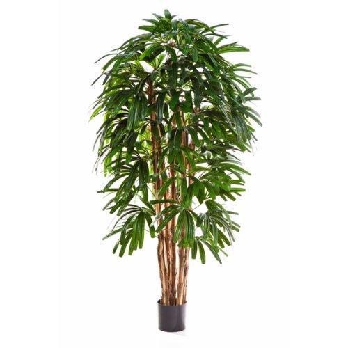 artplants Künstliche Steckenpalme, 120 cm - naturgetreue Kunstpalme/Künstliche Palme