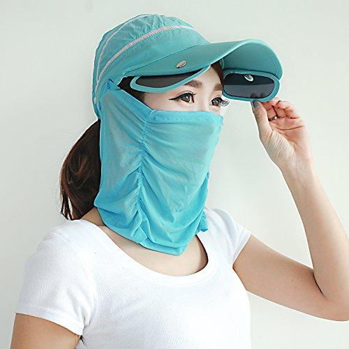 ZHANGYONG*Pare-soleil en été femelle noir Vélo pliable UV soins visage également hat beach sunscreen HATS réglable , Réglable