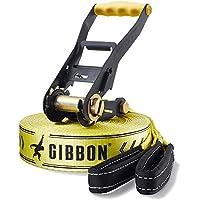 Gibbon Slacklines Classic Line - Set de accesorios para slackline, color amarillo/negro, talla única