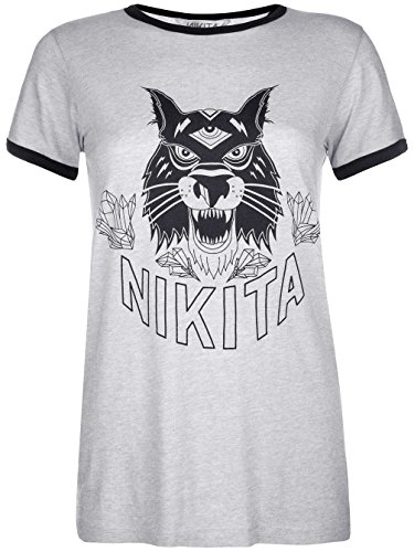 Nikita Donna Maglieria/T-Shirt Dusk Ringer White Heather