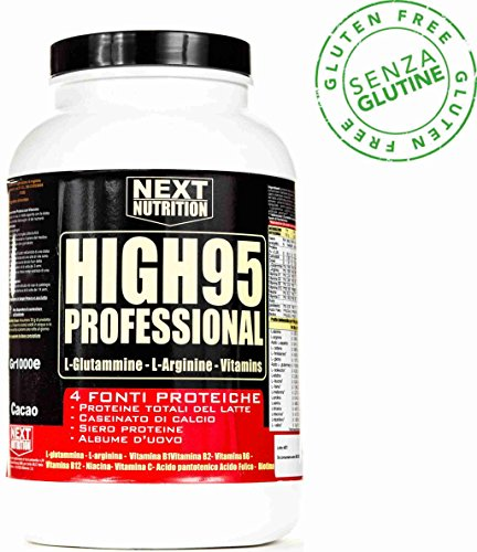 Proteine 90% Rilascio graduale , Blend Protein, 4 fonti proteiche (- Proteine Totali del latte, (100% Pure L-glutammina In Polvere)