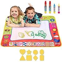 Symboat Jouet Enfant Tapis de dessin à l'eau Grand tapis de peinture Doodle Tapis d'écriture avec 4 stylos 8 moules Enfants jouet d'apprentissage Kids Toys
