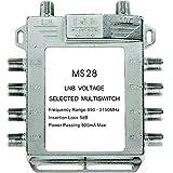 2-in-8 Buwico interruptor Diseqc Satellite conexiones antena parabólica plana LNB interruptor para televisor receptor