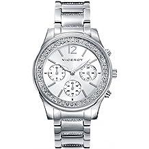 Reloj Viceroy Mujer 40848-85 Acero Cronógrafo Circonitas