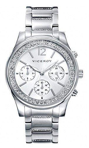 7ec2b8b5f47a Viceroy Reloj Multiesfera para Mujer de Cuarzo con Correa en Acero  Inoxidable 40848-85