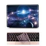L2W Coque MacBook Air Occasion Prix Laptop Ordinateur Case Plastique Coque Rigide Housse pour Apple MacBook Air 11 pouces [Modèle:A1370/A1465] Incluant Transparent couvercle du clavier,Étoiles Galaxy