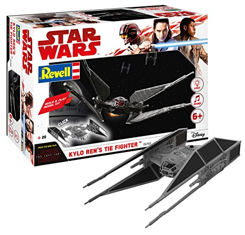 Revell- Star Wars Build & Play Kylo Ren's Tie Fighter, con Luces y Sonidos, Escala 1:70 (6760)(06760) (Revell06760)