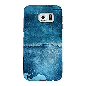 Cute Blue Paint Print Back Case Cover for Samsung Galaxy S6