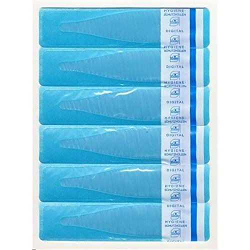 60 Stück Thermometer Schutzhüllen . Kinder Fieberthermometer Hygiene Hüllen mit Gleitmittel . Thermometerhüllen