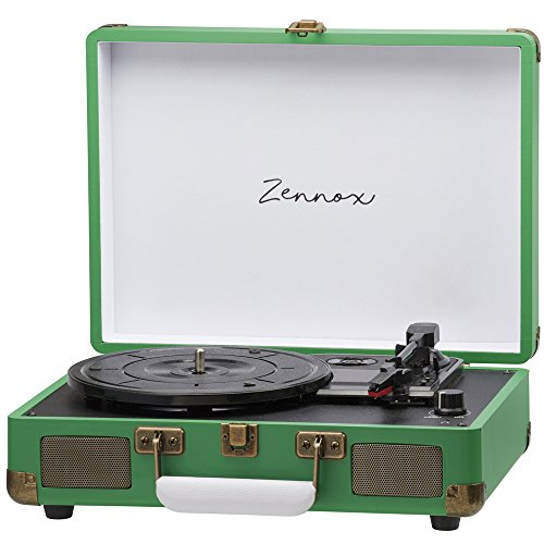 zennox-portable-retro-style-briefcase-record-player-vinyl-turntable-deck-with-built-in-stereo-speake