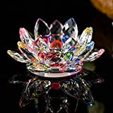 ToDIDAF - Portavelas de Cristal de Loto de 7 Colores con Forma de Flor de Loto, Colorido