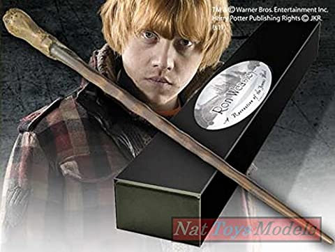 Bacchetta Magica Ron Weasley Boxed Wand Noble Harry Potter Baguette