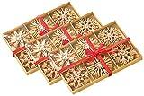 infactory Baumschmuck: 72 Festliche Strohsterne für den Weihnachtsbaum (Strohstern Weihnachtsbaum)