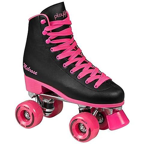 Playlife Melrose Deluxe Patins à roulettes Disco Roller Noir/Rose, schwarz-pink, 41