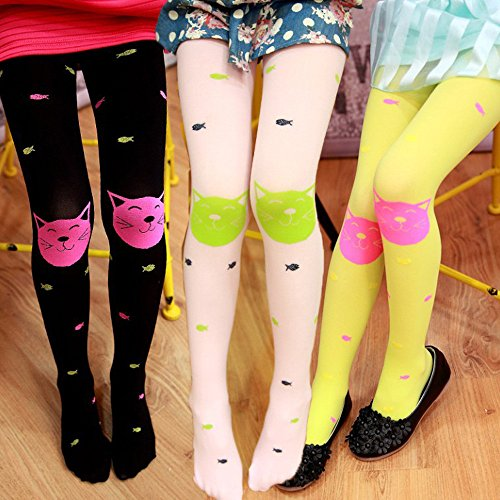 HUHU833 Girls Tights Bearded Girl Fashion Knitted Stocking Baby Pantyhose For 3-10 years old