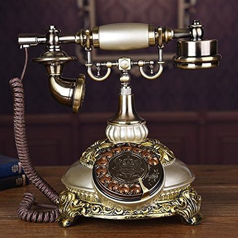 CHENGYI Sonderangebot-Art- und Weisekreative drehen wählen Telefon Retro europäisches Art-Innenministerium Festnetz ( Farbe : Beige )
