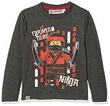 LEGO Ninjago Jungen T-Shirt 161415, Gris (Marengo Melange/Racing red 19-1763 TCX), (Hersteller Größe: 4 Jahres)