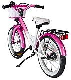 BIKESTAR® Premium Kinderfahrrad für sichere und sorgenfreie Spielfreude ab 4 Jahren ★ 16er Classic Edition ★ Flamingo Pink & Diamant Weiß -