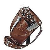 Scherentasche/Friseurtasche/Werkzeugtasche in Braun mit Platz für 4 Scheren Neu