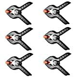 #5: MagiDeal 6 Pack Set Heavy Duty Muslin Spring Clamps 4.5 Inch Premium Nylon Clips Grip for Photography Backdrop Background Paper Canvas Photo Studio Woodworking Artwork Hanging Things