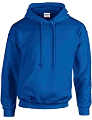 Gildan Heavy Blend Erwachsenen Kapuzen-Sweatshirt 18500 blue royal, XL