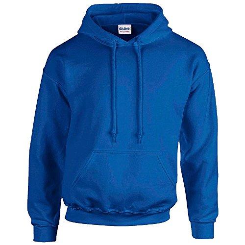 Gildan - Felpa con cappuccio e maniche lunghe, da uomo Blu reale