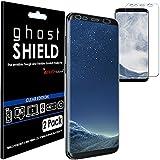 [Pack de 2] TECHGEAR Samsung Galaxy S8 [ghostSHIELD] Film Protecteur d'Écran Renforcé en TPU avec Protection Totale de l'Écran, y Compris les Bords Incurvés pour Samsung Galaxy S8 [Protection 3D Bords Incurvés] (SM-G950)