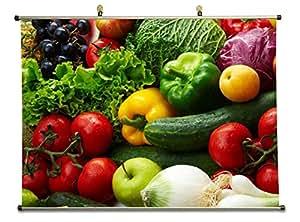 & Fruits et légumes en toile Poster 40 x 60 CM
