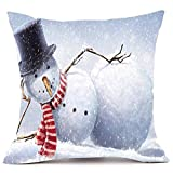 Riou Kissenbezuge Weihnachten Kissenhülle Dekokissen Throw Pillow Covers Bettwäsche Für Autos Sofakissen Startseite Dekorative Weihnachten Super Cashmere Sofa Home Decor Kissenbezug (mehrfarbig B, 45 x 45cm)