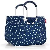 reisenthel Sac de Shopping L, grand Cabas/Panier pour courses, sac, panier pour Shopping, Spots Bleu marine, OR4044