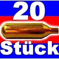Nemt - Lot de 20 cartouches de CO2 pour tireuses à bière de tout type, contient 16 g de CO2 A 1 pièce