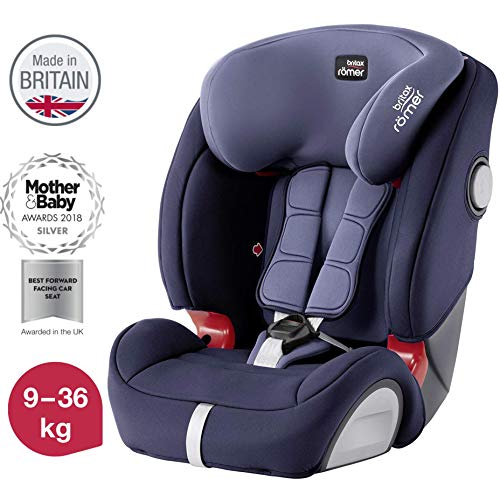 Britax Römer Kindersitz 9 - 36 kg, EVOLVA 123 SL SICT Autositz Isofix Gruppe 1/2/3, Moonlight Blau