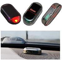 Auto Alarmanlage SOLAR LED Dummy Imitation Diebstahlsicherung Attrappe … (rot)