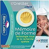 Bleu Câlin Lot de 2 Oreillers Mémoire de Forme Blancs 60x60 cm OMFW