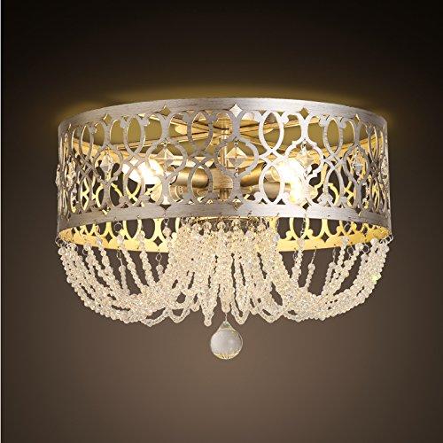 TYDXSD Aria cristallina americana Continental Hotel Villa soggiorno camera da letto intagliato corona ferrea soffitto luce 490 * 325mm