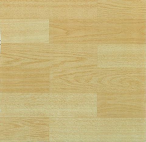 44 x Vinyl Floor Tiles - Self Adhesive - Kitchen / Bathroom, Sticky - Brand New - Beech Wood Effect (2573)