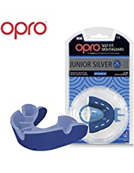 OPRO Junior Silver Level Mouthhguard for Ball, Stick and Combat Sports - 18-Month Dental Warranty