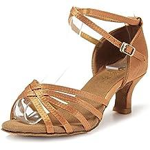 Mujer Zapatos Tacon - Generico 1 par Mujer Zapatos Tacon De Salsa Bachata Latinos  Baile Sandalias 7c153706f0ea