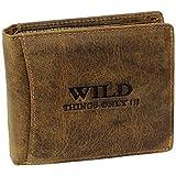 Bag Street Wild Things Only Herren Leder Geldbörse 5501 (Braun)