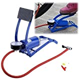 #6: Kitchen Point New High Pressure Aluminium Body Foot Air Pump Air Pressure Foot Pump for Bicycles,Bike, Tire, Cars, Inflating Pools, Basketballs, Footballs and More