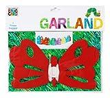 Talking Tables Raupe Nimmersatt Schmetterling Girlande, 1x 3m Seidenpapier Girlande