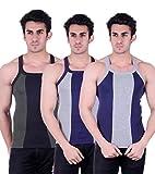 Zimfit Gym Vest - Pack of 3 (Blue_Grey_G...