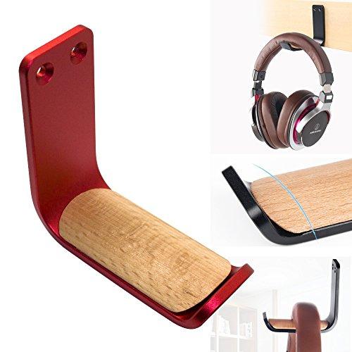 Kopfhörer-Halterung zum Aufkleben, Selbstklebende Haken, Unterschreibtisch-Kopfhörer-Ständer, Headset-Kleiderhalterung, MeetRade Aluminium, Wandhalterung, Haken für Kopfhörer und Schreibtisch (Schreibtisch-headset-ständer)