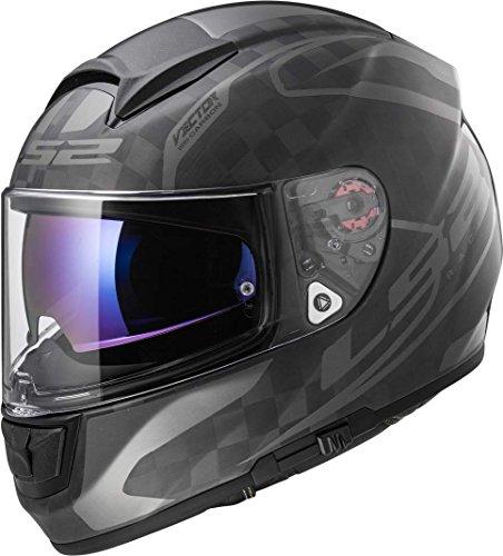 Preisvergleich Produktbild LS2 Helm Motorrad FF397 VECTOR CT2 CARBON,  Class Matt Carbon,  3 x l