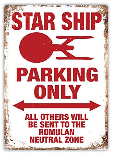 Star Schiff Parking Only-Metall Wandschild Aufschrift Kunst, inspirierende